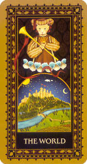 The World Tarot Card - Medieval Cat Tarot Deck