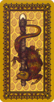 Ace of Staves Tarot Card - Medieval Cat Tarot Deck