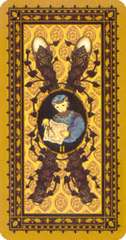 Two of Sceptres Tarot Card - Medieval Cat Tarot Deck