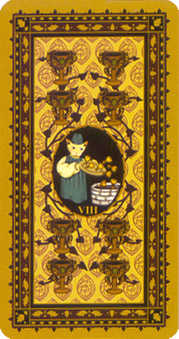 Eight of Cups Tarot Card - Medieval Cat Tarot Deck