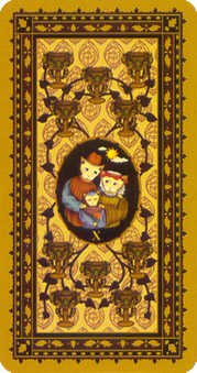 Ten of Hearts Tarot Card - Medieval Cat Tarot Deck