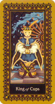 Shaman of Cups Tarot Card - Medieval Cat Tarot Deck
