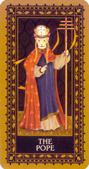 The Pope Tarot Card - Medieval Cat Tarot Deck