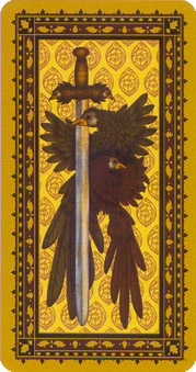 Ace of Swords Tarot Card - Medieval Cat Tarot Deck