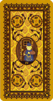 Four of Discs Tarot Card - Medieval Cat Tarot Deck