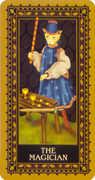 The Magician Tarot card in Medieval Cat Tarot deck