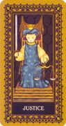 Justice Tarot card in Medieval Cat Tarot deck