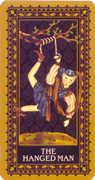 The Hanged Man Tarot card in Medieval Cat Tarot deck