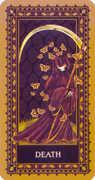 Death Tarot card in Medieval Cat Tarot deck