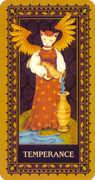 Temperance Tarot card in Medieval Cat Tarot deck
