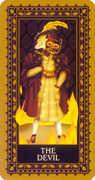 The Devil Tarot card in Medieval Cat Tarot deck