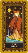 The Star Tarot card in Medieval Cat Tarot deck