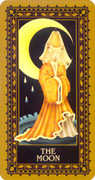 The Moon Tarot card in Medieval Cat Tarot deck