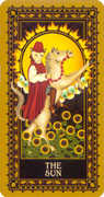 The Sun Tarot card in Medieval Cat Tarot deck