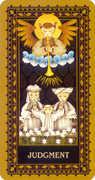 Judgement Tarot card in Medieval Cat Tarot deck