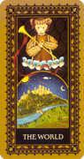 The World Tarot card in Medieval Cat Tarot deck