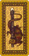 Ace of Wands Tarot card in Medieval Cat Tarot deck