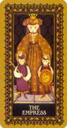 The Empress Tarot card in Medieval Cat Tarot deck