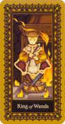 King of Wands Tarot card in Medieval Cat Tarot deck