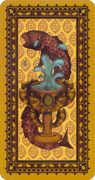 Ace of Cups Tarot card in Medieval Cat Tarot deck