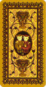 Two of Cups Tarot card in Medieval Cat Tarot deck