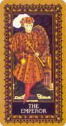 The Emperor Tarot card in Medieval Cat Tarot deck