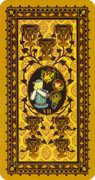 Seven of Cups Tarot card in Medieval Cat Tarot deck
