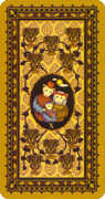 Ten of Cups Tarot card in Medieval Cat Tarot deck