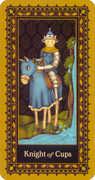 Knight of Cups Tarot card in Medieval Cat Tarot deck