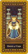 Queen of Cups Tarot card in Medieval Cat Tarot deck