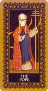 The Hierophant Tarot card in Medieval Cat Tarot deck