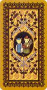 Five of Swords Tarot card in Medieval Cat Tarot deck