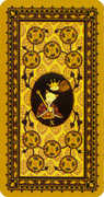 Ten of Coins Tarot card in Medieval Cat Tarot deck