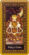 King of Coins Tarot card in Medieval Cat Tarot deck