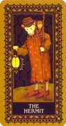 The Hermit Tarot card in Medieval Cat Tarot deck