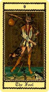 The Foolish Man Tarot Card - Medieval Scapini Tarot Deck