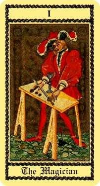 The Magus Tarot Card - Medieval Scapini Tarot Deck