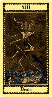 The Close Tarot Card - Medieval Scapini Tarot Deck