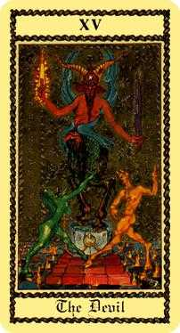 The Devil Tarot Card - Medieval Scapini Tarot Deck
