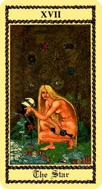 The Star Tarot Card - Medieval Scapini Tarot Deck