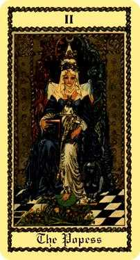 The High Priestess Tarot Card - Medieval Scapini Tarot Deck