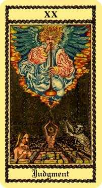 The Judgment Tarot Card - Medieval Scapini Tarot Deck