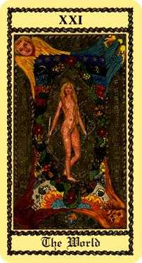 The World Tarot Card - Medieval Scapini Tarot Deck