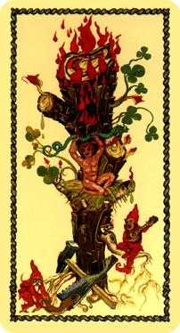 Ace of Staves Tarot Card - Medieval Scapini Tarot Deck