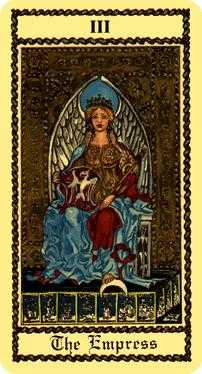 The Empress Tarot Card - Medieval Scapini Tarot Deck