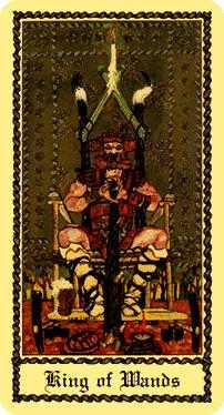 King of Batons Tarot Card - Medieval Scapini Tarot Deck
