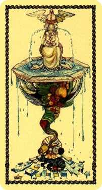 Ace of Cups Tarot Card - Medieval Scapini Tarot Deck