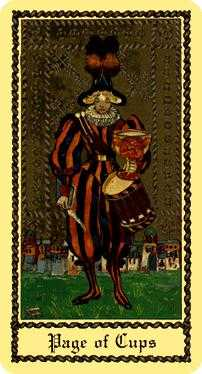 Page of Cauldrons Tarot Card - Medieval Scapini Tarot Deck