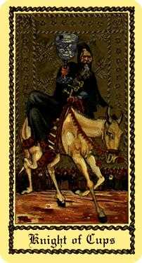 Knight of Cups Tarot Card - Medieval Scapini Tarot Deck