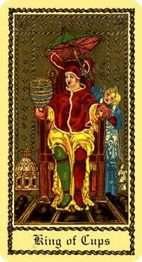 King of Water Tarot Card - Medieval Scapini Tarot Deck
